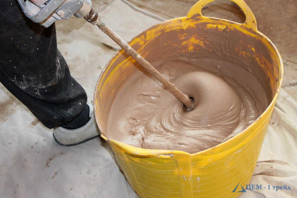 как замесить бетон миксером