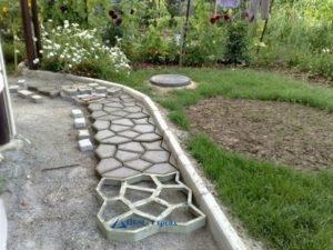 Продажа бордюра садового из бетона
